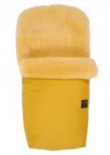Kaiser Natura lambskinfootmuff medical mustard yellow