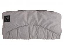 Kaiser Alaska melange fleece handmuff light grey melange