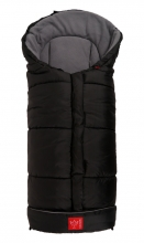 Kaiser Footmuff Iglu thermo fleece black/light grey