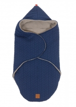 Kaiser Wrappy Wrap blanket Knit Design super soft navy