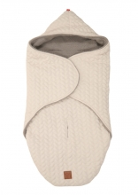 Kaiser Wrappy Wrap blanket Knit Design super soft beige