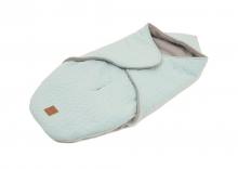 Kaiser Wrappy Wrap blanket Knit Design super soft mint