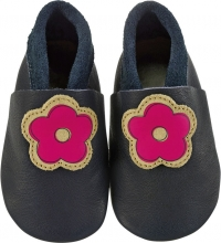 Sterntaler Leather baby-bootees 17/18 navy