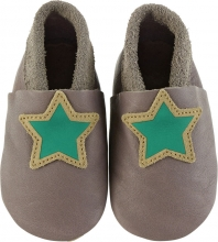 Sterntaler Leather baby-bootees 17/18 iron grey