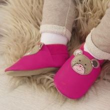 Sterntaler Leather baby-bootees 21/22 magenta