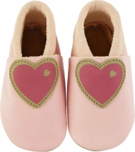 Sterntaler Leather baby-bootees 17/18 rose
