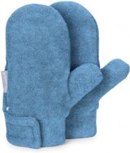 Sterntaler winter mittens size 2 blue melange