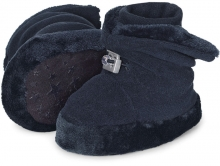 Sterntaler Baby-bootees with cord stopper 19/20 navy