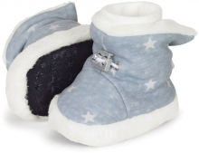 Sterntaler Baby-bootees with cord stopper stars 17/18 sky