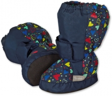 Sterntaler Baby-bootees with Velcro 17/18 navy