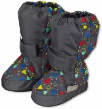 Sterntaler Baby-bootees with Velcro 21/22 grey