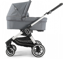 Emmaljunga NXT60F silver Lounge Grey Eco inclusive carrycot