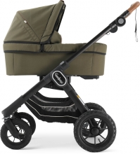Emmaljunga NXT90F Outdoor Olive Eco inclusive carrycot