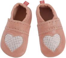 Anna and Paul leather toddler shoe Sweetheart rose with leather sole