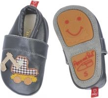 Anna and Paul leather toddler shoe excavator anthrazit with rubber sole L-22