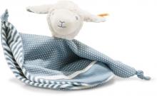 Steiff Cuddly Cloth Lamb Leno 28cm white/petrol