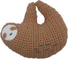 Sebra Crochet rattle Sloth Lacey tawny brown