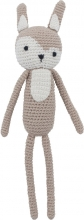 Sebra Crochet Toy Siggy the rabbit birchbark beige