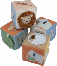 Sebra Soft baby blocks Wildlife (4 pcs.)