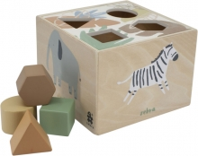 Sebra Wooden shape sorter Wildlife