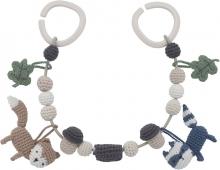 Sebra Crochet pram chain Woodland