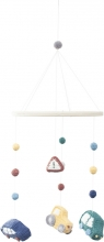 Sebra Crochet Baby mobile Little Driver