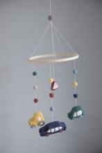 Sebra Crochet Baby mobile Little Driver