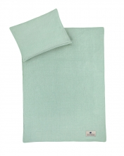 Zöllner Terra muslin bedding green 100x135cm