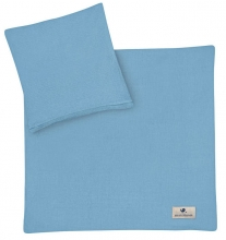 Zöllner Muslin bedding blue 80x80cm