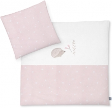 Zöllner Bedding with appliqué Hedgehog Star Rose 80x80cm