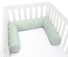Zöllner Organic Cot Bumper 180cm Happy Bird sage
