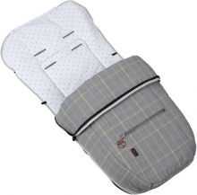 Summer-winter footmuff Hartan 500 pastel check