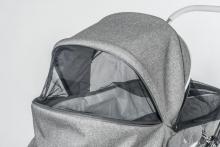 Hesba Calido SL 300 791/227 stonegrey with white leather paspel  handle leather grey