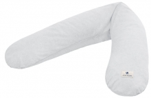 Zöllner Terra muslin nursing pillow grey 190cm