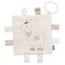 Fehn 58178 Crinkle toy llama with ring