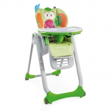 Chicco highchair Polly 2 Start - 4 wheels Parrot