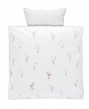 Alvi Bedding with embroidered application Flamingo 80x80cm