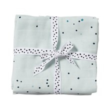 Done by Deer Swaddle 2-pack, Dreamy dots, blue