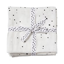 Done by Deer Burp cloth, 2-pack, Dreamy dots, white