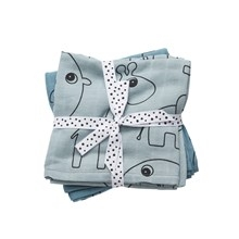 Done by Deer Swaddle 2-pack, Contour, blue