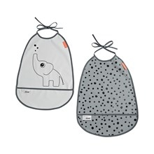 Done by Deer bib, 2-pack, Elphee, grey tones