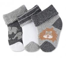 Sterntaler 8201702 newborn socks wildlife 3x Pack size 0 silver melange