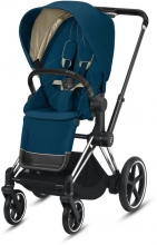 Cybex ePriam Mountain Blue incl. frame and seat with sun canopy