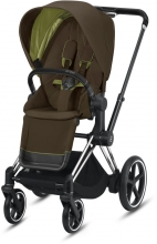 Cybex ePriam Khaki Green incl. frame and seat with sun canopy
