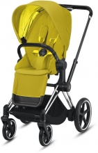 Cybex ePriam Mustard Yellow incl. frame and seat with sun canopy