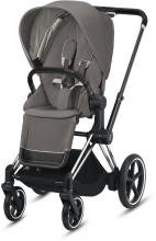 Cybex ePriam Soho Grey incl. frame and seat with sun canopy