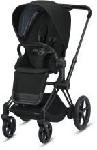 Cybex ePriam Deep Black incl. frame and seat with sun canopy
