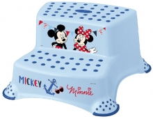 Keeeper Step stool with 2-steps Mickey Mouse light blue