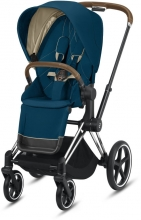 Cybex Priam Mountain Blue incl. frame and seat with sun canopy