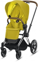 Cybex Priam Mustard Yellow incl. frame and seat with sun canopy